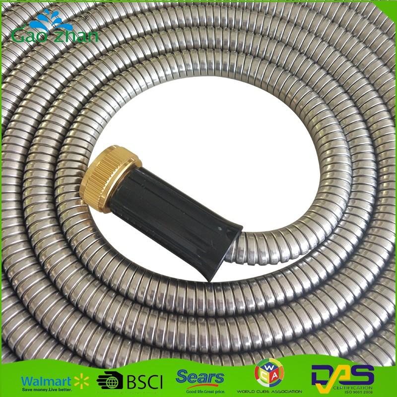 Kink Resistant Stainless Steel Flexible Hose High Pressure Metal Garden Hose Buy Metal Garden