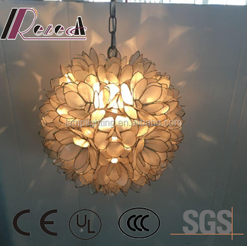 Luxury Decorative Capiz Natural Seashell Lotus Hanging Pendant Light & Luxury Decorative Capiz Natural Seashell Lotus Hanging Pendant Light ...