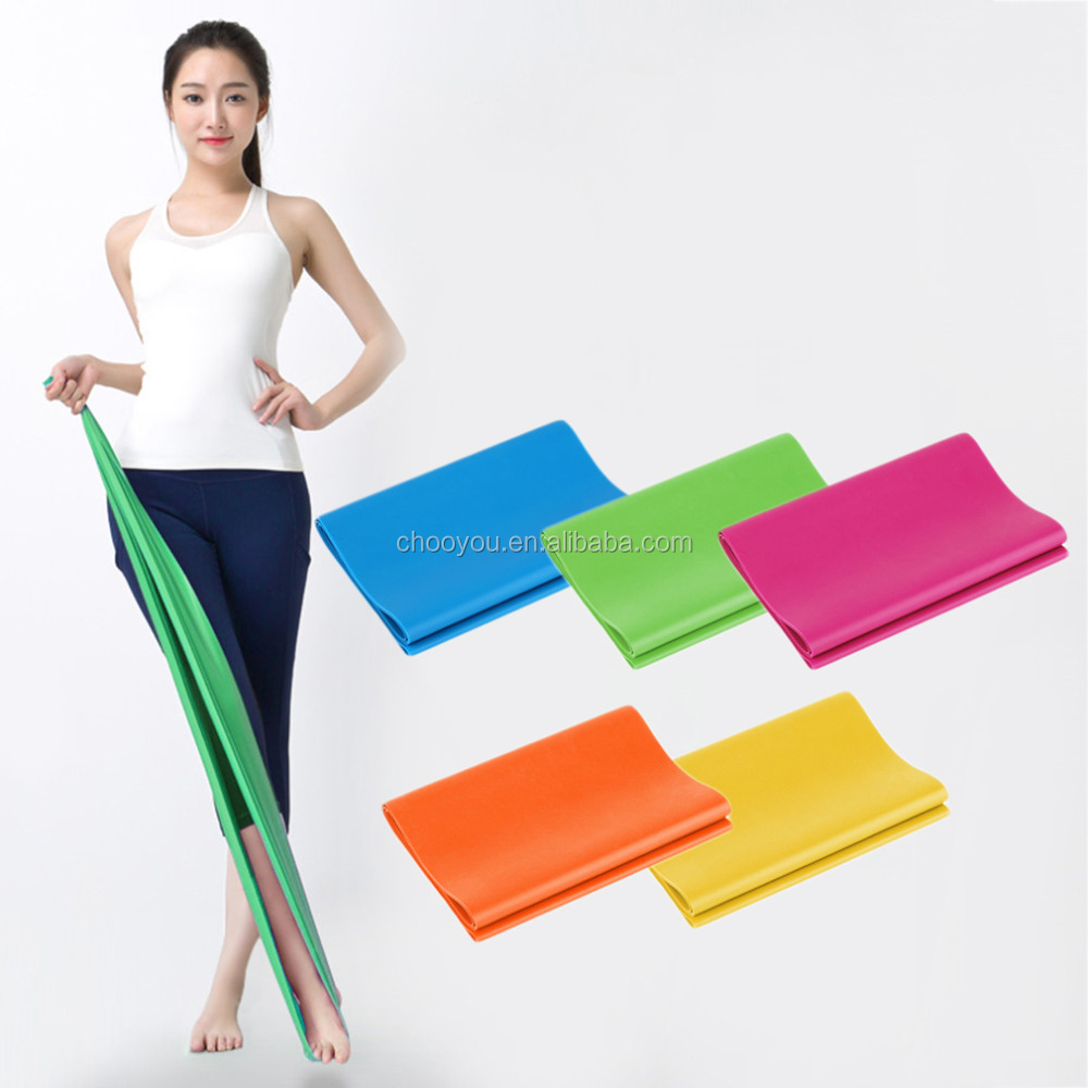 Fitness Equipment Elastic Exercise Resistance Bands Workout Pull Stretch Band Sports Gym Yoga Pilates Bodybuilding Tools