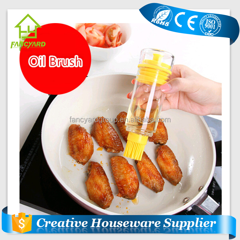 FY5059 BBQ Grill Tools/ Silicone Cooking Oil Brush/ Oil Painting Bottle Brush