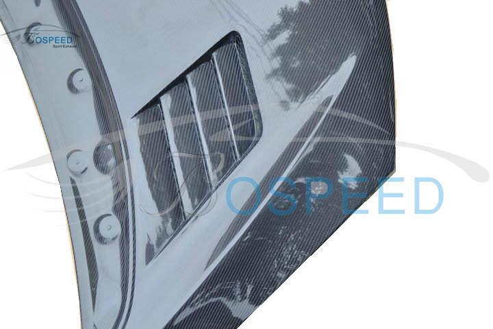 Bospeed Carbon Fiber Front engine cover carbon hood with vents A type bonnet for Honda Fit 2014 GK5 GP5