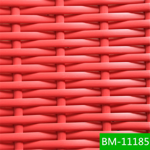 Synthetic resin Colorful Woven Flat Plastic Rattan Poles For Outdoor Furniture