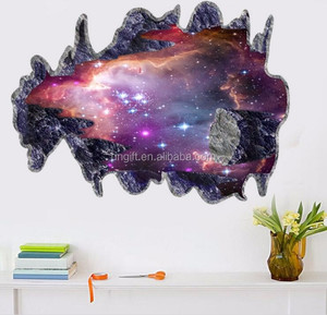 3D Outer Space Planet Wall Stickers for kids room Beautiful Galaxy Stickers Decor Living Rooms