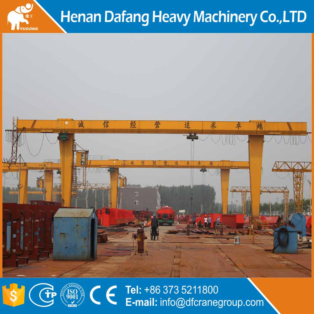 Metal Industry Rail Mounted Electric Wire Rope Hoist Single Girder Gantry Crane
