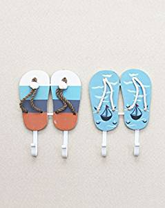 CCWY Wooden Beach ocean winds slippers home nice wall hooks ornaments decorating the bedroom hung solid wood