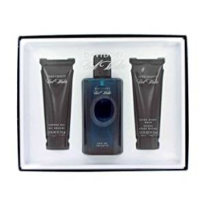 Cool Water by Davidoff Cologne for Men 4 Piece Fragrance Set Includes: 4.2 oz / 125 ml Eau de Toilette Spray + 2.5 oz / 75 ml After Shave Balm + 2.5 oz / 75 ml Shower Gel + 2.4 oz / 75 ml Deodorant Stick