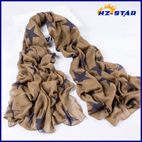 HZW-13523004 Wholesale new fashion stars lady's solid silk scarf from india