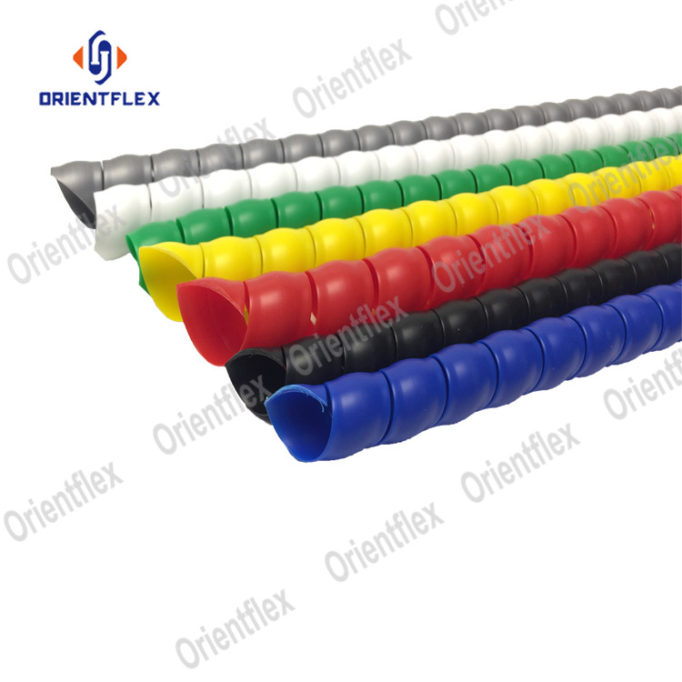 safe soft sleeve plastic spiral guard protection wrap protective coil hydraulic hose cover