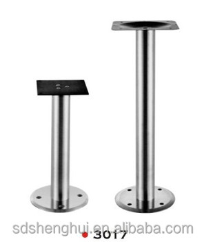 Bolt Down Restaurant Table Base Stainless Steel Dining Table Pedestal