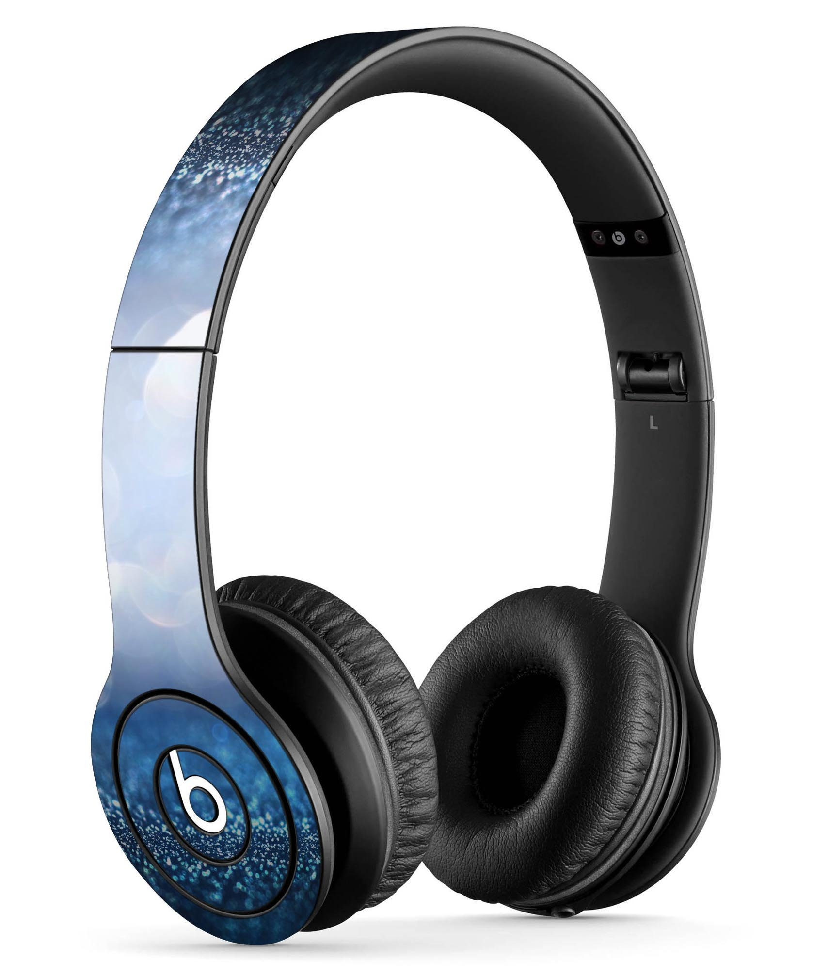 Royal Blue and Silver Glowing Orbs of Light DesignSkinz Full-Body Skin Kit for the Beats by Dre Solo or SoloHD Headphones / Ultra-Thin / Matte Finished / Protective Skin Wrap
