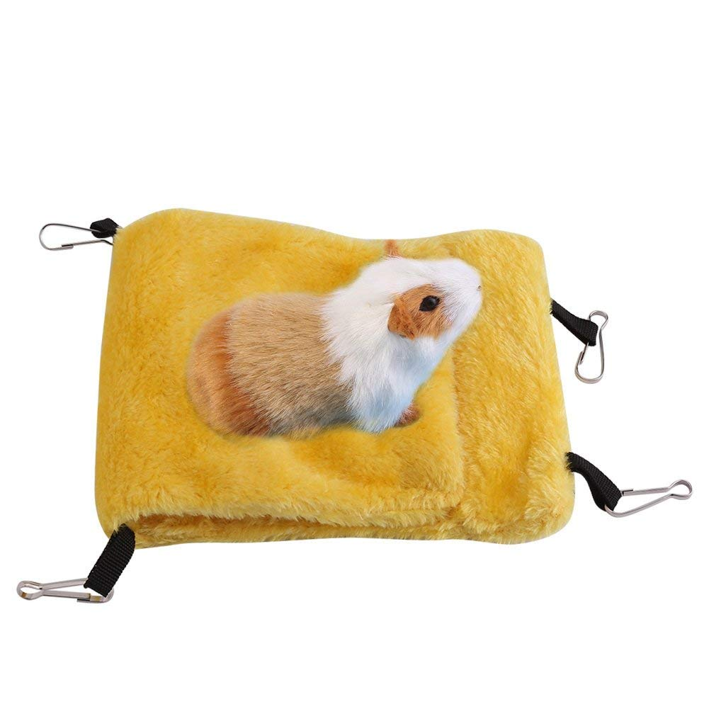 Aolvo Banana Hammock//House//Hideout//Bed for Dwarf Hamster Hamster Big Cage Nest House Accessories Swing Bridge Hanging Bed Toys for Small Breed Animals Like Guinea Pig Sugar Glider