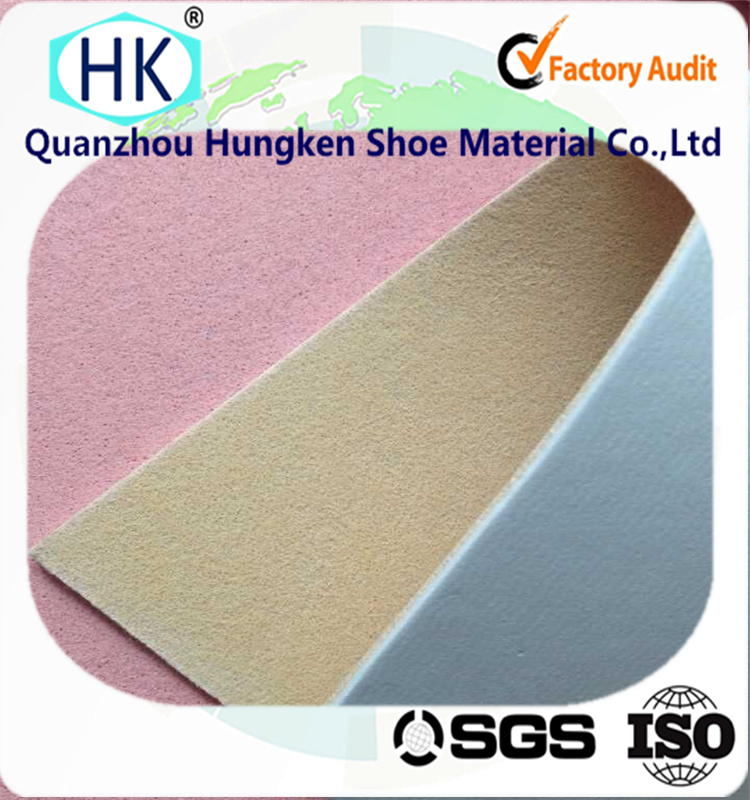 Non-woven fiber insole board laminated with EVA foam used as shoe insole