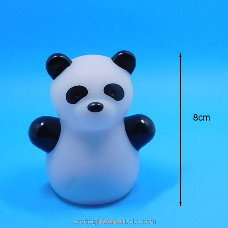 Customized Color Changing LED Night Light Small Panda Plastic Toy