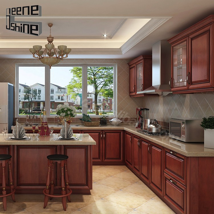 Imported Modern Termite Proof Solid Wood Modern Kitchen Cabinets ...