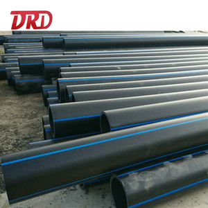 Flexible 100mm 150mm 300mm HDPE pipe pn16 pe100 manufacturer