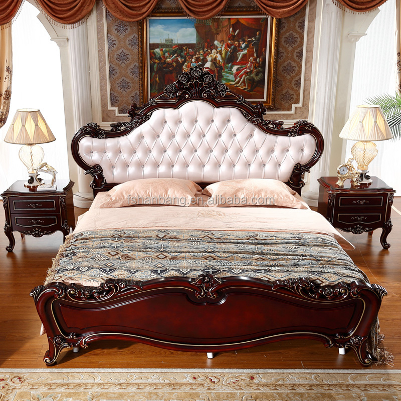Popular latest wood double bed designs french cot buy for Latest double bed designs 2016