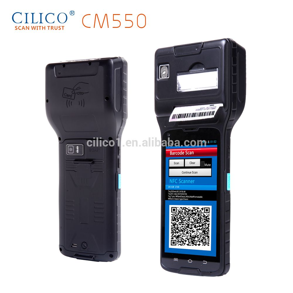 pda phone cilico besting selling CE certificated cheapest tracking device android os pda with thermal printer touch screen hand