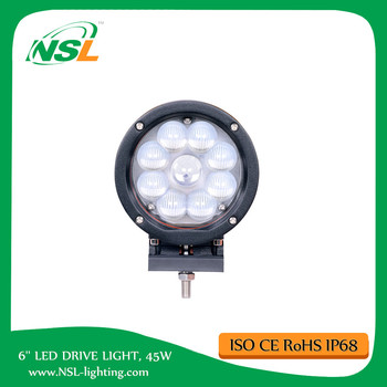 6inch Round 45W CREEE LED drive light spot/flood beam 4WD TRUCK lamp off ROAD driving