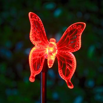 Solar Stick Light Led Ed Erfly Dragonfly Lights Outdoor Hummingbird Lawn Lamp For Garden