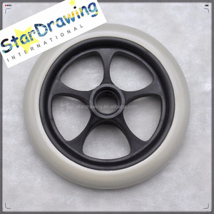 SS Anti-static Polyurethane 150mm 6 inch front wheels for wheelchair with ball bearings