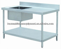 Stainless Steel Sink Bench With Under Shelf with Drain BN-S30