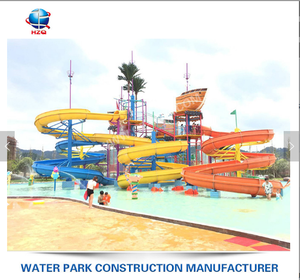 High quality Fiberglass water slides for sale New design drawing water park equipment draft