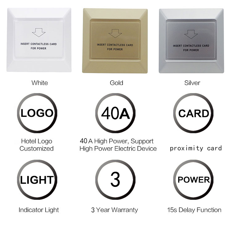 Service Supremacy Quality Primacy Rfid Hotel Key Card Power Switch