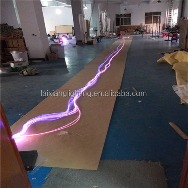 Swimming pool perimeter and sauna room wall brightness decorative colorful light 8mm solid core side glow fiber optic