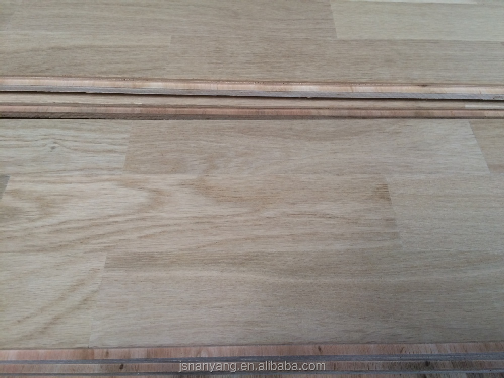 Unfinished white oak distressed engineered wood floor for for Engineered wood flooring sale
