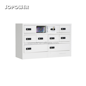 School Clroom Cell Phone Tablet Charging Station With Safe Box
