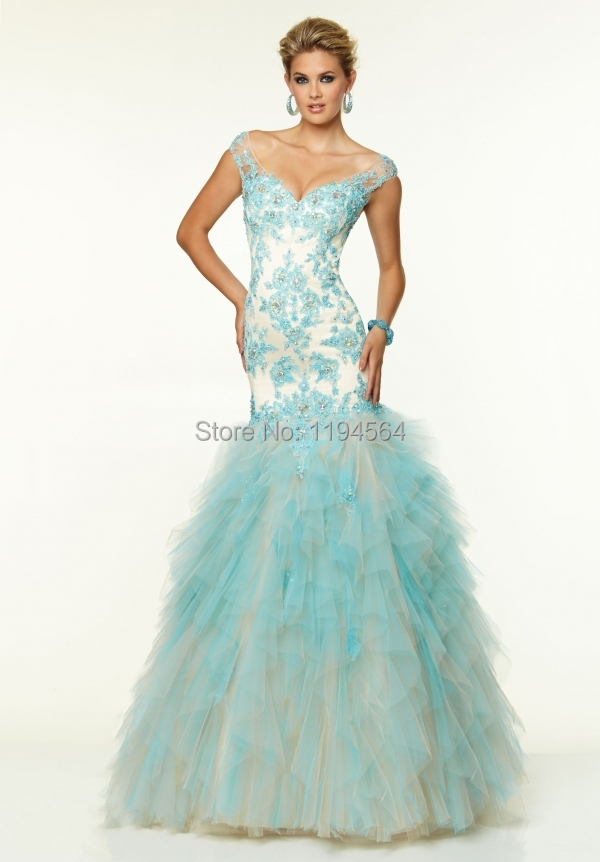 Sexy Low Back Appliques Quinceanera Dress 2015 Mermaid Organza Ruffles Sweetheart Masquerade Ball Gown In Stock PE1024