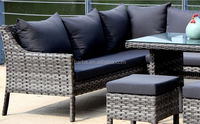 Patio Wicker Set Rattan Furniture Outdoor Rattan Sofa Set