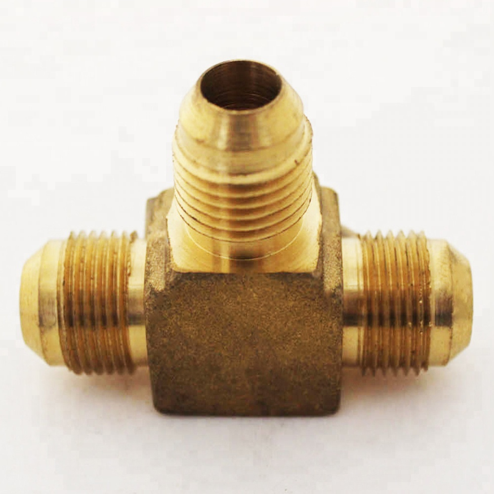 Otore 1/2&quot; Forged Flare Union Tee Brass Plumbing Tee <strong>Fitting</strong>