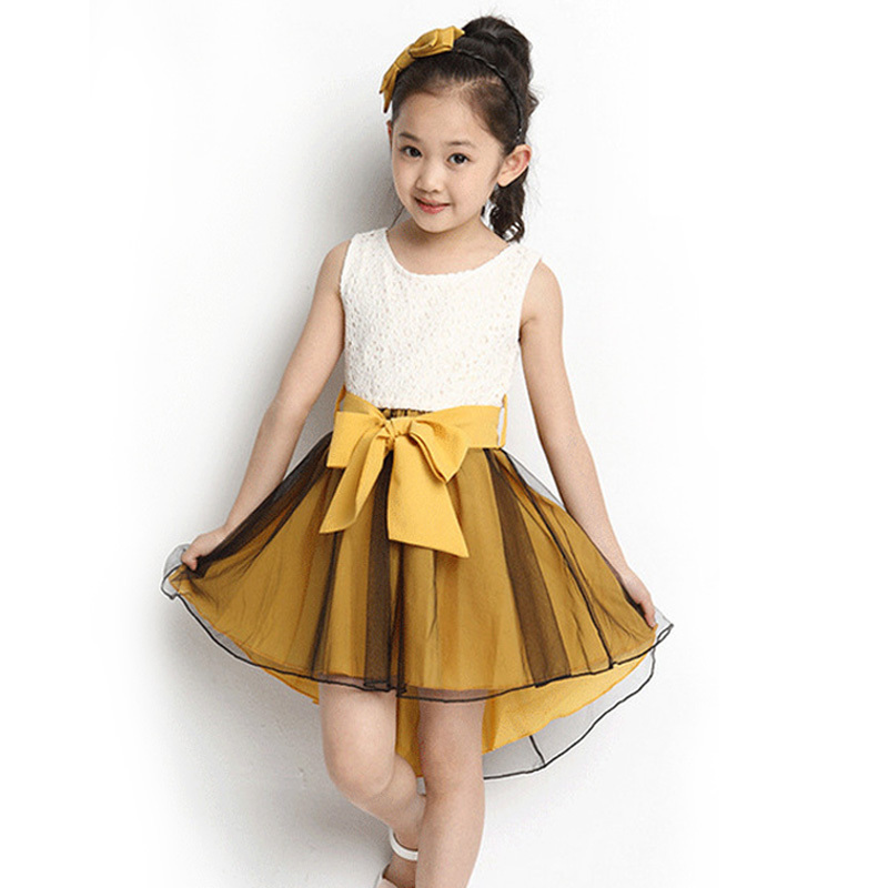 Get Quotations · Princess Girls Party Dress 2015 Kids Sleeveless Mermaid  Dresses With A Bow Little Girls Wedding Dress