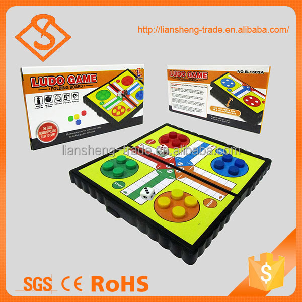 Hot selling funny plastic indoor game folding magnetic chess set gift