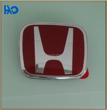 rectangle shape red color painting ABS plastic badge/emblem