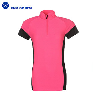 Factory directly Sports women quarter zipper cycling jersey clothing