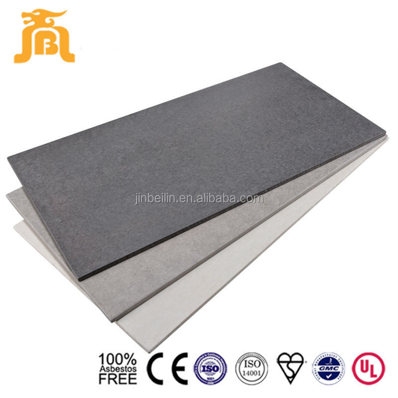 Light weight exterior facade fibercment board
