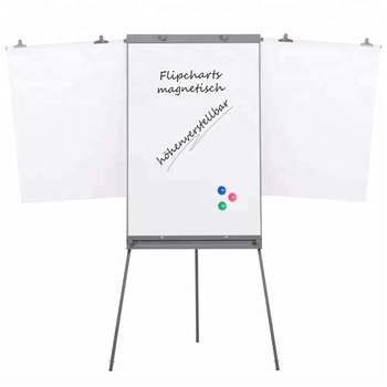 Custom Simple Design Easel Stand Folding Whiteboard Paper Flip Chart With Extended Arms