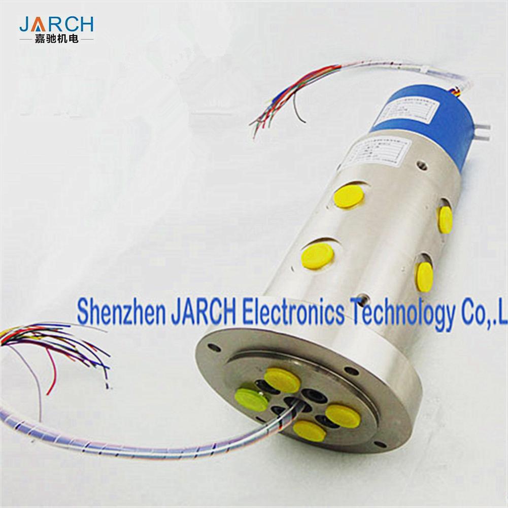 50 million Working Life Pneumatic Electric Hybrid slip rings Through Bore Slip Ring 300mm Lead Length