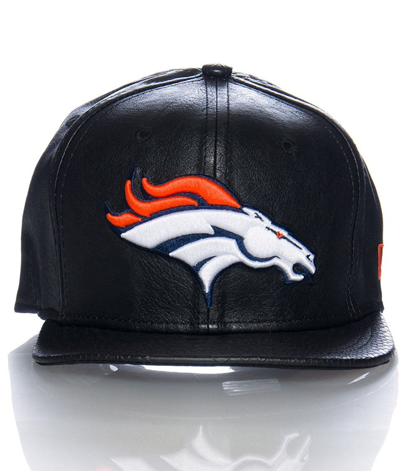 Get Quotations · New Era Og Fits Denver Broncos Black Leather Snakeskin  Buckle Strapback Snap Hat Cap 28a102e03