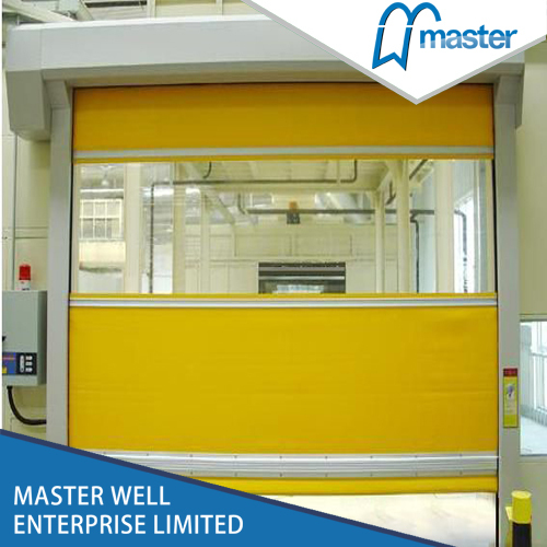 Safety pvc fast rolling doors for commercial application