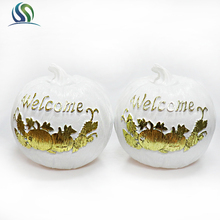 2018 Factory Price Supply Customized Resin Halloween Gifts Pumpkin Ornament For Party Use
