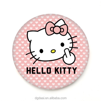 ccfb03d78 Hot selling hello kitty printed tinplate one-way mirror with cosmetic logo