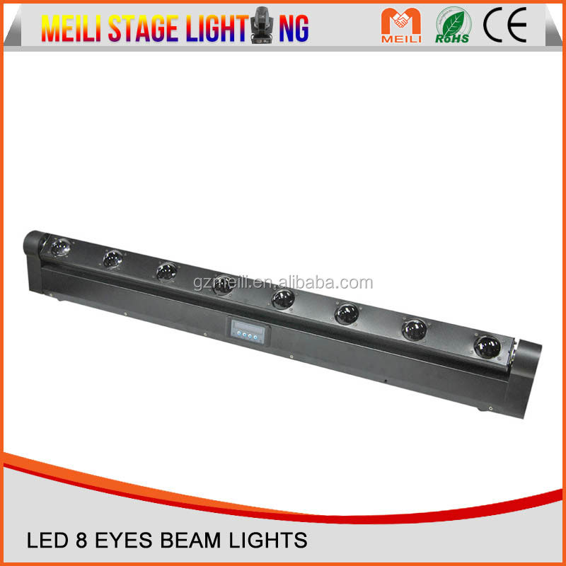 Plat lens led pixel bar beam light,8*10W RGBW 4IN1 LED stage