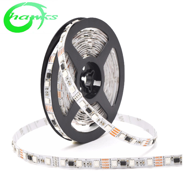 5M WS2811B 30 leds/m Pixel LED Strip Light 5050 SMD RGB WS2812 IC;WS2812B/M White PCB IP67