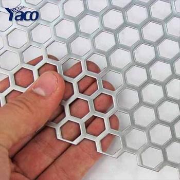 Hexagonal Perforated Metal Sheet Perforated Metal Mesh