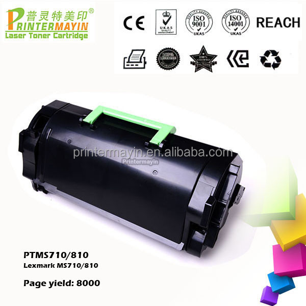 Page Yield 8K/25K/45K MS810 Compatible Toner Cartridge for use in Lexmark MS710/810 (PTMS710/810)