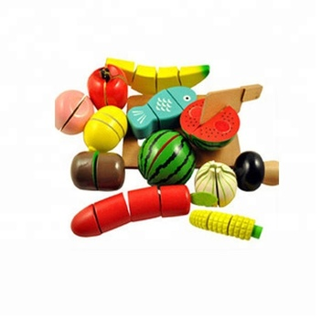 2017 Wholesale Wooden Fruits And Vegetables Toys For Play