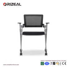 Fashionable Modern Plastic Folding Chairs School Orange Office Movable Task Chair Special Offer